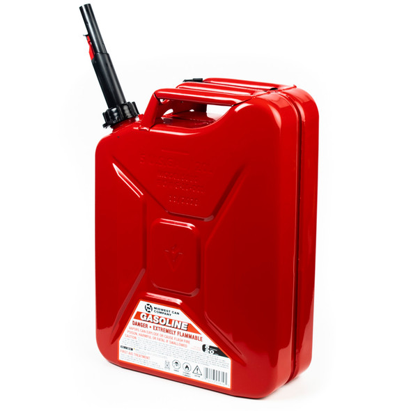 Midwest Can, 5 Gal Metal Jerry Can, Red