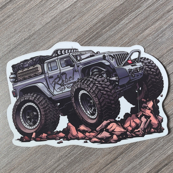 Rebel Off Road Iron Man JT Beasted-Up Series Decal