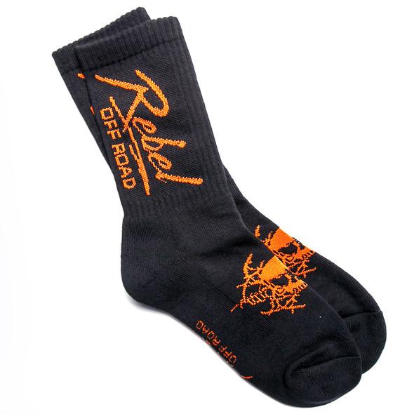 Rebel Off Road All-Terrain Men's Socks, Black, Miami Logo
