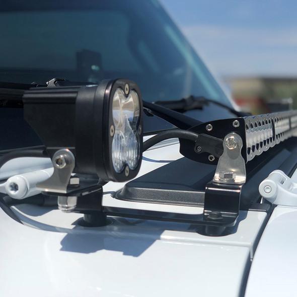 "Baja Designs Jeep JL/ Gladiator JT, Squadron Sport & 40"" S8 Cowl Mount"