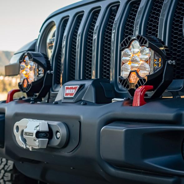 Baja Designs Jeep Rubicon JL/ Gladiator JT Steel Bumper LP6 Light Kit