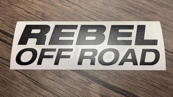 Rebel Off Road Blocked Decal