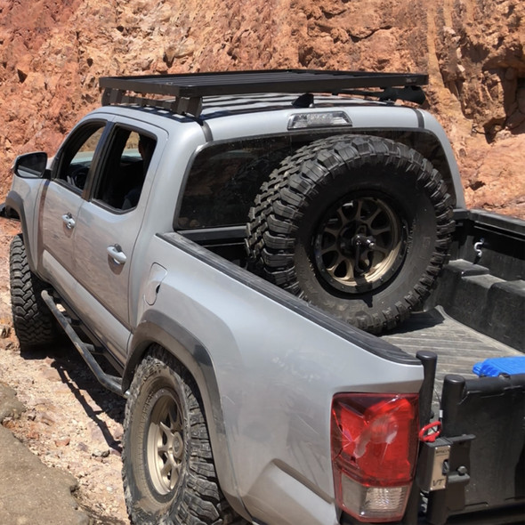 """Wilco Offroad Bedrail Mounted Tire Carrier, Fits up to 37"""" Tire"""