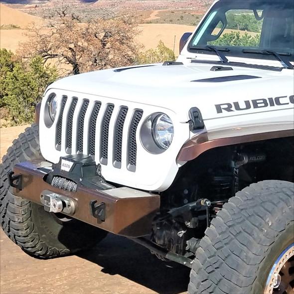 Nemisis Helix Stubby Front Bumper, Aluminum, Jeep JL/JLU, JT Gladiator