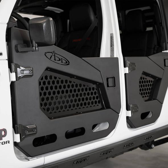 Addictive Desert Designs Stealth Fighter Front Half Doors, Jeep JL/Gladiator JT