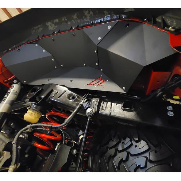 American Adventure Labs Aluminum Rear Inner Fenders, Quick-Release, Jeep Gladiator JT