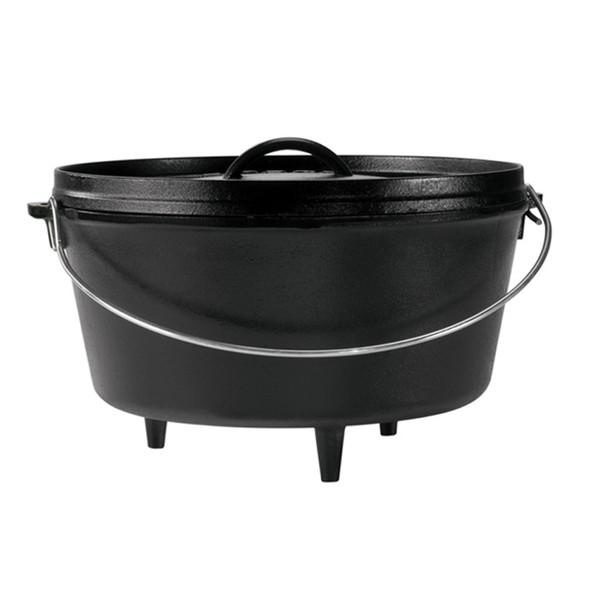 Lodge 10 inch / 5 Quart Deep Cast Iron Camp Dutch Oven