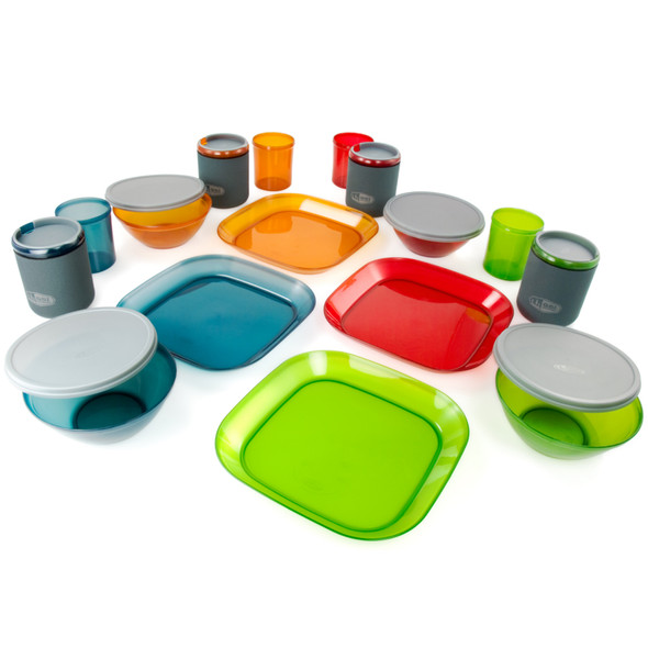 GSI Outdoors Infinity 4 Person Deluxe Table Set, Multi Color