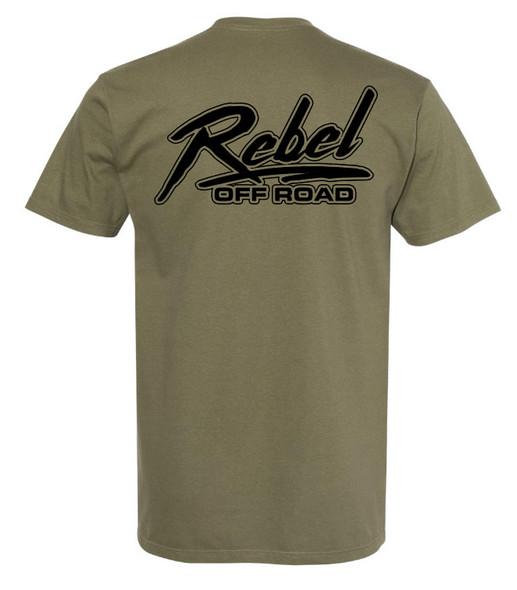 Rebel Off Road Working Man Green T-Shirt