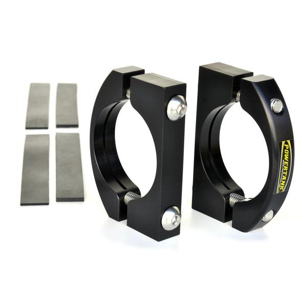 Power Tank Billet Aluminum Black Roll Bar Clamps