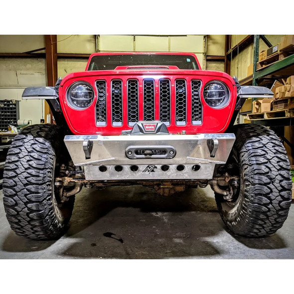 Next Venture Motorsports Stubby Aluminum Front Winch Bumper, Jeep Gladiator / JL Wrangler