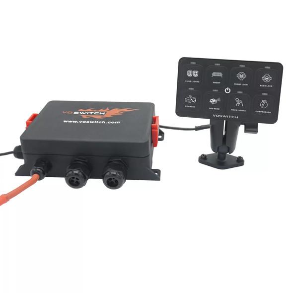 Voswitch UV100 Universal 8 Gang Programmable Switch Panel