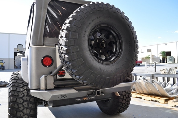 Poison Spyder TJ -LJ Rockbrawler Rear Bumper With Tire Carrier