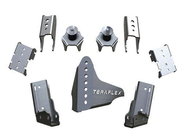 TeraFlex JK/JKU CRD60 Rear Axle Bracket Kit