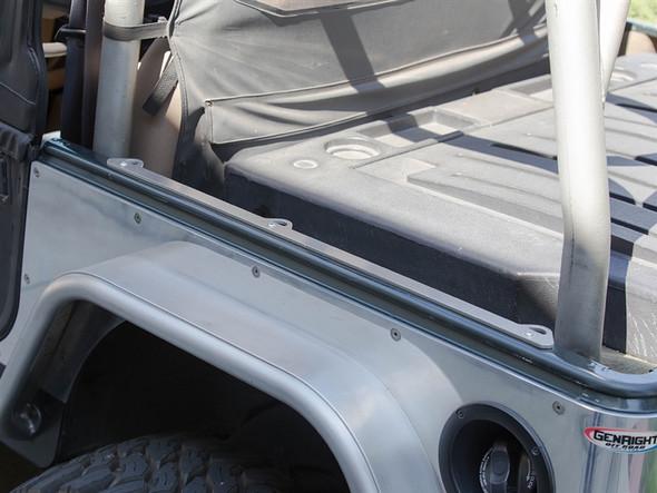 GenRight Jeep YJ/CJ Lock & Load Tub Rail Tie Down System - ACC-4010