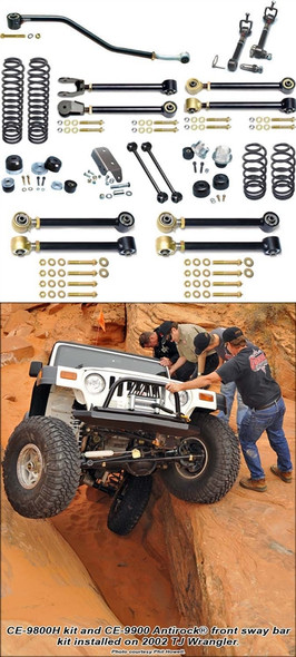 Currie Enterprises 97-06 Jeep Wrangler TJ (Short Wheel Base) Suspension System With Swaybar Disconnects - No Shocks