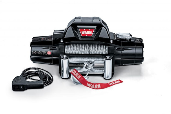 WARN 88980 ZEON 8 Winch with 100' Wire Rope and Roller Fairlead