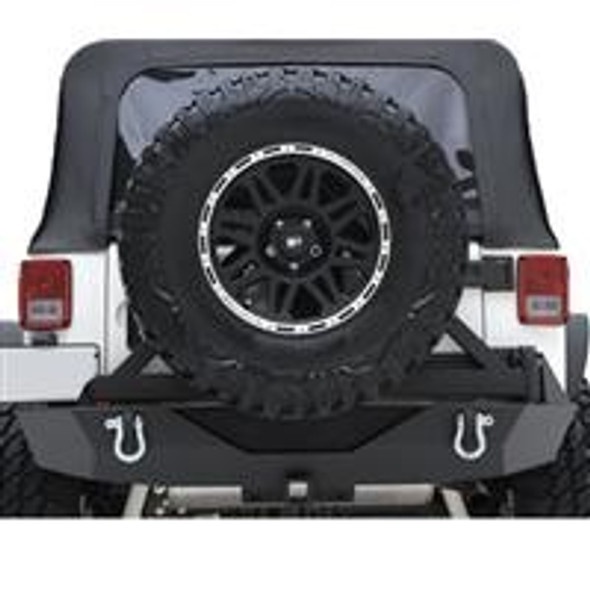 Jeep JK XRC Armor Rear Bumper With Hitch And Tire Carrier By Smittybilt