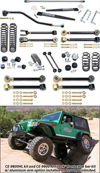 Currie Enterprises 04-06 Jeep Wrangler Unlimited / LJ - Suspension System W/ Antirock - No Shocks