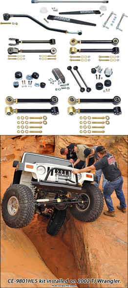 Currie Enterprises 97-06 Jeep Wrangler TJ (SWB) and 04-06 Wrangler Unlimited LJ (LWB) Suspension System W/Antirock  - No Shocks - No Springs