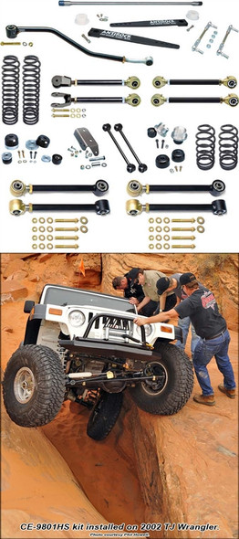 Currie Enterprises 97-06 Jeep Wrangler TJ (Short Wheel Base) Suspension System W/Antirock and Double Adjustable Upper Arms - No Shocks