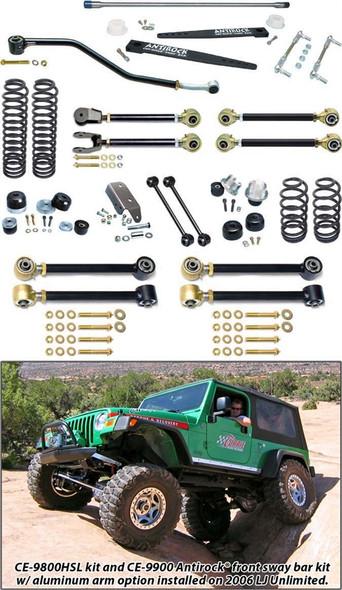Currie Enterprises 04-06 Jeep Wrangler Unlimited / LJ Suspension System W/ Antirock Double Adjustable Upper Arms - No Shocks