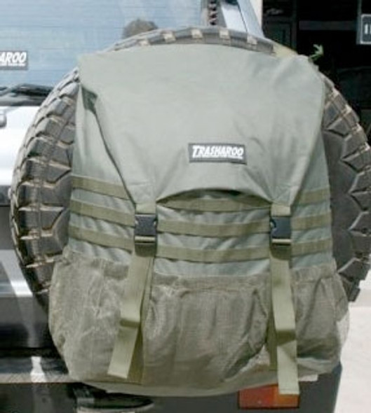 Trasharoo Spare Tire Trash Bag (GREEN) Rebel Off Road Edition