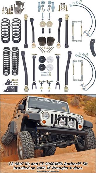 Currie Enterprises 07-13 Jeep Wrangler Unlimited (JK) Suspension System **4DR** W/F&R Adjustable Swaybar Links - No Shocks - Kit