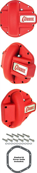 Currie Enterprises Dana 44 Cast Differential Cover - Textured Red
