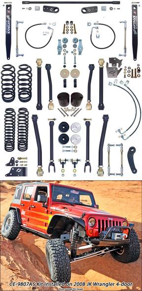 Currie Enterprises 07-13 Jeep Wrangler Unlimited (JK) **4DR** W/ Front Swaybar Links and Rear Antirock W/ Steel Arms - No Shocks - Kit