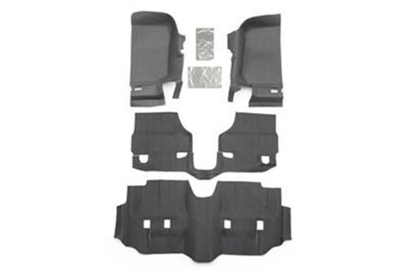 Bedrug BedTred JK 2007-13 4-Door Front 4-Pc Floor Kit, Including Heat Shield
