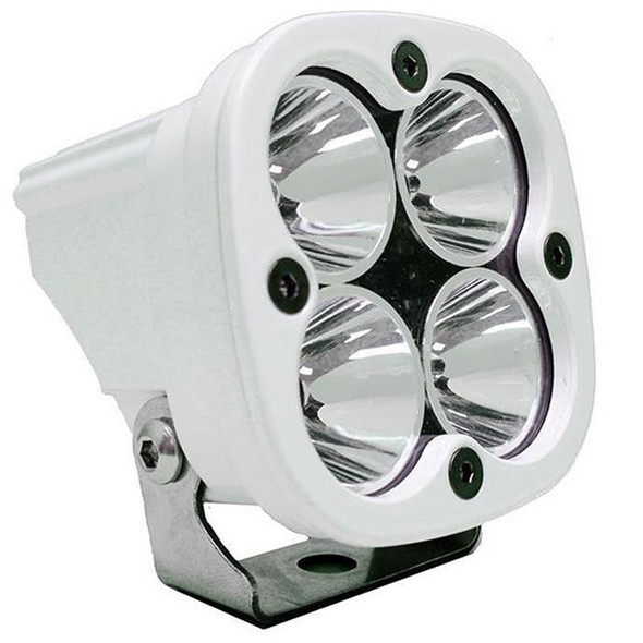 """The Squadron® Sport is hands down the best $119.95 LED on the market today. Although similar in aesthetics to the Squadron® Pro, the application for the Sport varies. The Squadron® Sport utilizes 4 Cree XP-G2 LEDs producing an impressive 1,800 lumens at 20 watts making it ideal for near field, side/backup and scene lighting application. An industry first 30 Day Satisfaction Guarantee & Limited Lifetime Warranty is included for the ultimate in purchase protection.Includes:Squadron® Sport LED Light, WhiteMounting BracketPatterns:Driving/Combo: Maximum trail coverage in a single light. The Driving/Combo pattern is equipped with both Driving (10°) and Spot (9°) optics to provide you with a smooth blend of light for both near field applications and distance (Lighting Zone 3)Wide Cornering: BD was the first to develop a pattern specifically for cornering, dust and/or fog conditions. The Wide Driving pattern offers a 42° flattened horizontal beam for the ultimate in comfort lighting. (Lighting Zones 1 & 2)Spot: A longer and narrower 9° beam focus for illumination further down the trail or road. The Spot pattern is designed to be used in conjunction with additional Wide Driving and/or Driving/Combo beam lights. (Lighting Zone 4 & 5)Flood: Excellent work light or """"scene light"""" with an extremely smooth 60° circle that projects about 60 ft). This pattern is not suitable for driving. (Lighting Zone 7)"""