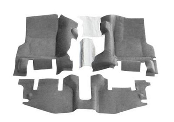 If you want a floor liner that won't damage your Jeep, isn't permanent and won't lower your resale value, BedTred is for you. It provides a rugged work surface that is tough enough to withstand dents and dings while protecting your most fragile cargo from sliding around inside your Jeep. The BedTred system gives you the rugged spray-in lock without the need of any labor intensive prepping and installs with hook and loop fasteners, without damaging the floor. While traditional spray-in liners can quickly fade and chalk, the BedTred material is fade and UV resistant. 100% waterproof, completely mold and mildew resistant, dry quickly and will not stain with oil or harsh chemicals. Quick and easy installation without the need to remove seat brackets or the center console. 3 pieces: Drivers footwell, passengers footwell, rear seat footwell plus heat shields. 3 year warranty. Bedrug does not recommend additional mats and liners because the nibs on the back of mats or liners will not grip, but rather slide on the BedTred material.1997-06 TJ Wrangler and RubiconWith center console3 piece front100% Polypropylene waterproof spray-in lookCompletely removableUV and fade resistantQuick and easy installation3-year warrantyInstalls in an hourHook and loop fasteners (velcro)Made in the USA