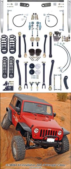 Currie Enterprises 07-13 Jeep Wrangler (JK) Ssspension System **2DR** W/Front Swaybar Links and Rear Antirock W.Aluminum Arms - No Shocks - Kit