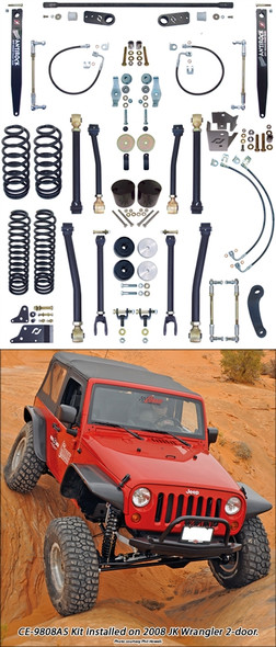 Currie Enterprises 07-13 Jeep Wrangler (JK) Suspension System **2DR** With Front Swaybar Links and Rear Antirock W/Steel Arms - No Shocks - Kit