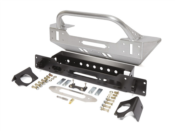 GenRight JK Low Profile Winch Guard Front Bumper - Aluminum FBB8345