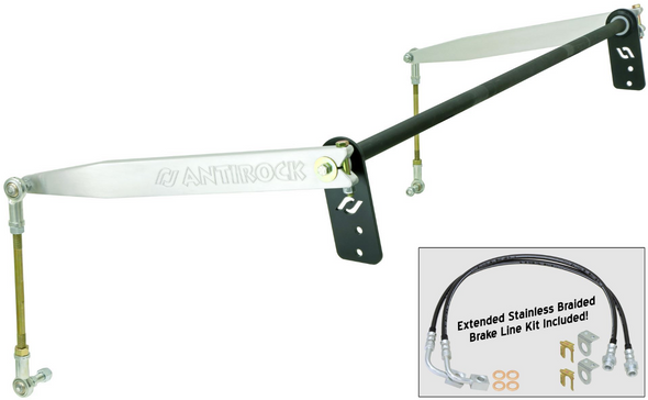 Rock Jock 4x4 JK 4D Antirock® Rear Sway Bar Kit (Aluminum Arms) - CE-9900JKR4A