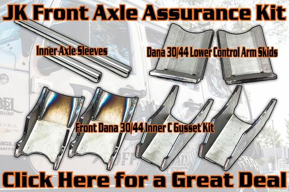Jeep JK Skid Plate/Gusset Bundle: Inner Axle Sleeves / Knuckle Gussets / Control Arm Skids