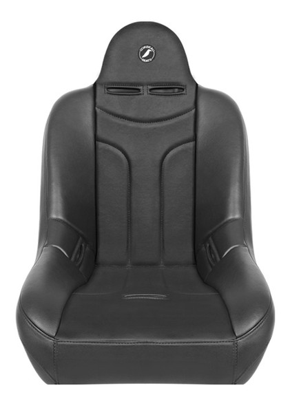 """The Jeep® community has spoken and we have listened. We are excited to introduce our all-new Baja JP Suspension Seat. This seat is a direct bolt in to most CJ5's, and all CJ7's and YJ's. Please note the stock CJ mounting brackets have a steep angle to them. When bolting the Baja JP seat to the factory brackets it will put the seat in an extreme reclined position. If this is not comfortable for you we recommend using our mounting brackets to level the seats back out. The Baja JP will fit in any other vehicle with Corbeau Custom Brackets. What makes this seat special is the strategic bolstering. We made just enough bolster support to hold you in place and provide ultimate comfort but at the same time making it easy to get in and out of your vehicle. For those of you with lifted vehicles, you will love this feature! The Baja JP is equipped with the state of the art Corbeau Suspension System. This system has proven to provide superior cushioning and significant energy return upon impact. The suspension system creates somewhat of a trampoline effect, which absorbs the impact your back would otherwise endure. The Baja JP Off Road Suspension Seat will fit up to a 38"""" inch waist and the Wide will fit up to a 42"""" waist. The Baja JP is available in all black vinyl or black vinyl/cloth fabrics."""