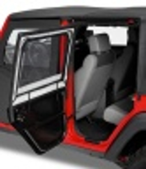Bestop Highrock 4X4 Element Doors With Storage Bags Black JK Front (Pr)