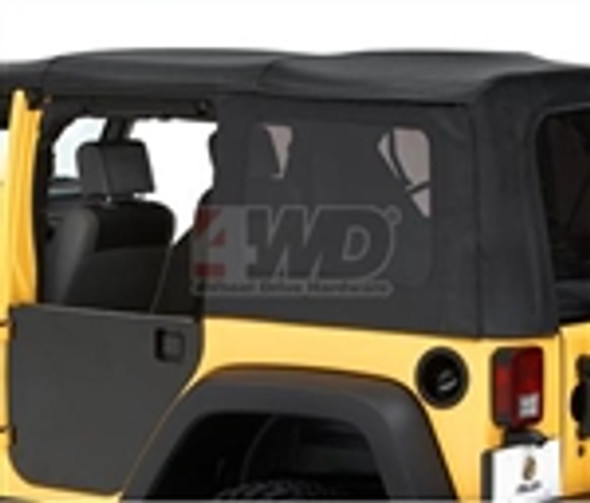 These Enclosure Kits attach to your Bestop Element doors. (Sold Separately) The Enclosure Kit comes in a pair and is easily installed with house hold tools. The finish is powder coated black and can be painted to match the factory paint. You will still be able to install you OEM mirrors to the door panels. Sold in Pairs.