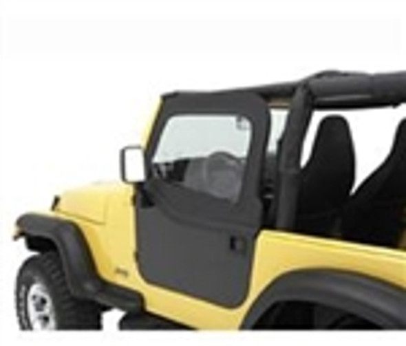 Bestop HighRock 4x4 Element Upper Doors in Black JK Front (Pr). Lets you turn your Element doors into Full doors, keeping the Elements out and you and your crew Dry and Comfortable inside. Fits element doors only. Sold in Pairs.