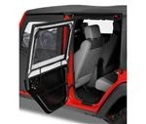 Bestop Highrock 4X4 Element Upper Doors In Black JK Rear (Pr).