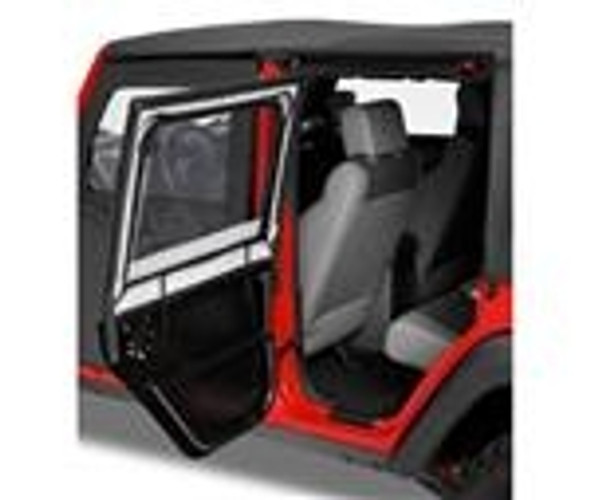 Bestop HighRock 4x4 Element Upper Doors in Black JK Rear (Pr). Lets you turn your Element doors into Full doors, keeping the Elements out and you and your crew Dry and Comfortable inside. Fits element doors only. Sold in Pairs.