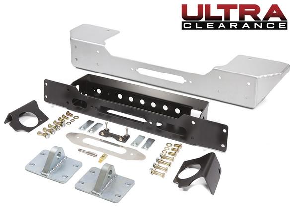GenRight Ultra Clearance JK Stubby Front Bumper - Aluminum FBB8050
