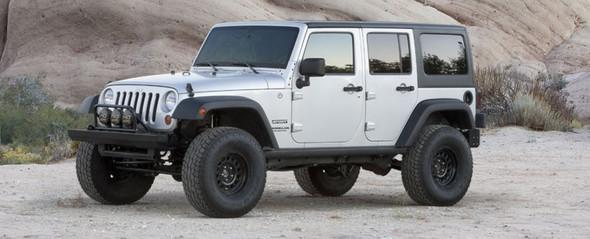 "FABTECH 3"" Budget System w/ Dirt Logic Shocks - 2007-14 Jeep JK (4 Door) 4WD"