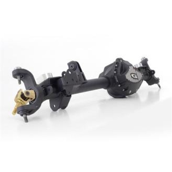 """G2 Axle & Gear is proud to introduce our new CORE 44 axle assemblies for 2007 and up Jeep JK Wranglers. Utilizing the strongest and latest generation high pinion 8.8"""" Dana 44 gear design, we have developed a whole new housing to handle the heavy loads that would normally bend a stock Dana 30 or Rubicon Dana 44. Then we stuff this heavy duty axle housing full of the best aftermarket components available like lockers of your choice and G/2 Placer Gold USA made 35 spline Chromalloy axle shafts for the strongest Dana 44 available.Technical DetailsJK High Pinion Front with 4.56 gear ratio and ARB Air LockerUtilizes new generation 8.8in. JK 44 ring & pinion with larger pinion shaftUSA Made 4340 Chromalloy 1.5in. 35 spline Placer axle shaftsHeavy duty Dana Spicer 5-7166X Axle U-JointsFactory style flange pinion yokeStandard axle caster for 0-4 inch liftsMassive forged inner C-endsIntegrated skid plates on lower control arm mountsHeavy-duty 1/4in. laser cut bracketsHeavy duty 3in. diameter 5/16in. DOM tubesReinforcing ribs for added strength and protectionUses metric Rubicon style carrier bearingsHeavy duty forged bearing capsSpanner nuts for backlash adjustmentHeat-treated aluminum diff cover with cooling fins"""