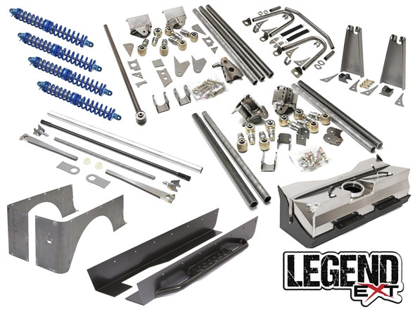 """GENRIGHT OFFROAD - JEEP TJ LEGEND EXT SUSPENSION PACKAGE (6-7"""" STRETCH)"""
