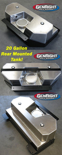 GenRight Crawler Gas Tank, JK - Rear Tank Only