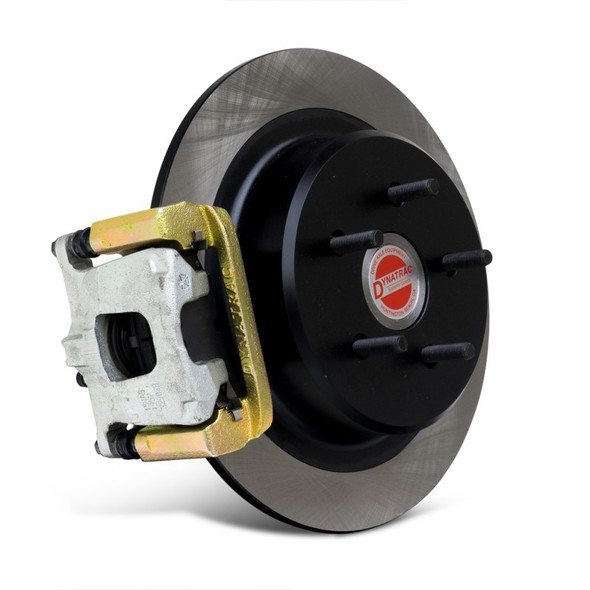 Dynatrac is setting a new standard in brake upgrades with the introduction of its ProGrip Brake System, designed to provide a significant braking improvement during off-roading and daily-driving experiences as well as in emergency stops. The first application of the ProGrip Brake Systems is the popular 2007-2018 Jeep Wrangler JK.The Dynatrac ProGrip Brake System comes with larger rotors for the front and rear, providing improved braking by moving the factory calipers farther from the axle centerline. The increased rear braking power provides balanced braking, reducing nose dive and dramatically improving the control of the vehicle in mild and hard braking conditions compared to upgrades that only address the front brakes. Significant research was done to select the optimum front and rear brake-pad linings to balance the system and provide additional stopping power.Fully instrumented testing showed lower brake pedal pressure and a reduction in stopping distances of up to 30 percent compared to stock brakes on a Jeep JK outfitted with a 4-inch lift and 37-inch-tall tires. Measured G-force during moderate braking (1,000-psi brake fluid pressure) increased from 0.48 Gs with stock brakes to 0.63 Gs with the Dynatrac ProGrip system.Another key advantage is that installation of the system does not require opening the brake hydraulics, thus avoiding the chore of bleeding the brakes after installation. Additionally, brake pedal feel and travel is improved after upgrading to the Dynatrac ProGrip Brake System.The system is a direct bolt-on for 2007-2018 Jeep Wranglers and it includes:13.50-inch front rotors with unique pillar-vented cooling design14.25-inch rear rotors with integral parking brake surfaceStronger caliper brackets designed using CAD/FEA and advanced engineering toolsUnique front and rear brake pads for optimum friction performanceThe Dynatrac ProGrip Brake System fits Jeep Wranglers with 17-inch wheels (wheel spacers are required with 17-inch factory wheels), and the system will fit in nearly all aftermarket wheels without spacers.NOTE: This kit does not fit Mickey Thompson Sidebiter II wheels due to the unusual inner profile of the wheel. If you have 17-inch wheels and would like to verify that they will fit with the ProGrip Brake System, click the link below to download the Wheel Fitment Instructions as well as the front and rear brake profile. Installation InstructionsWheel Fitment Instructions